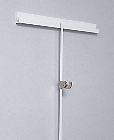 Sistema rieles sobre pared wall rails picture hanging for Perchero pared sin agujeros